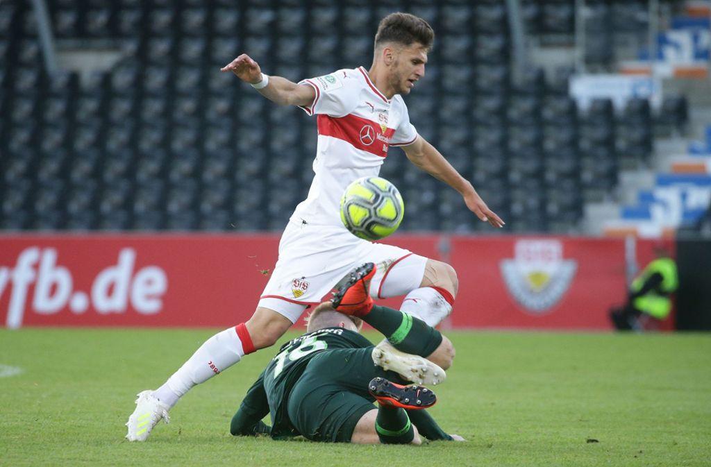 Der VfB kann trotz Riesenchance nicht gegen den VfL Wolfsburg punkten. Foto: Pressefoto Baumann