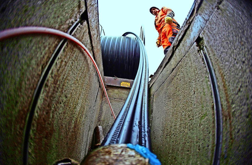 Ab 2022 soll der Glasfaser-Ausbau bis ans Haus deutlich voranschreiten. Foto: dpa