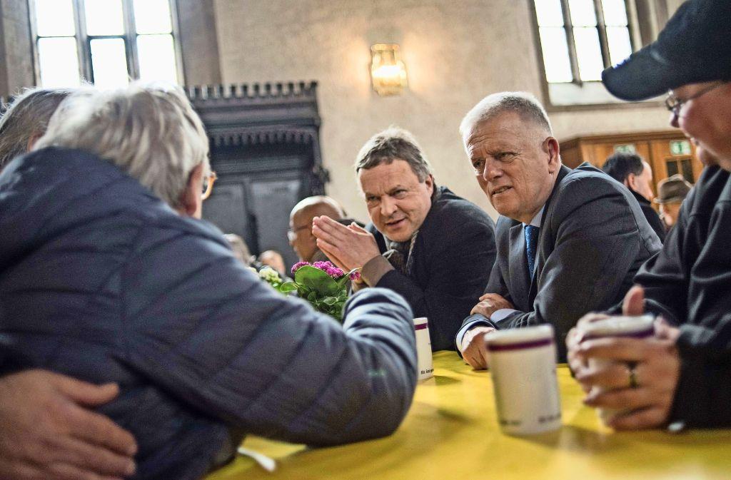 """OB Kuhn hat in der Vesperkirche nicht über große Politik, sondern über """"kleine Themen"""" geplaudert. Foto: Lichtgut/Max Kovalenko"""