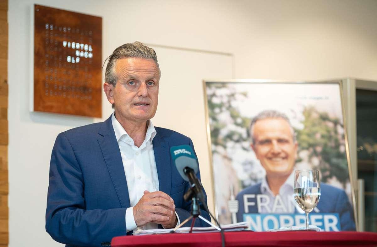 """Will ein neues """"Stuttgart-Gefühl"""": OB-Kandidat Frank Nopper. Foto: dpa/Sebastian Gollnow"""