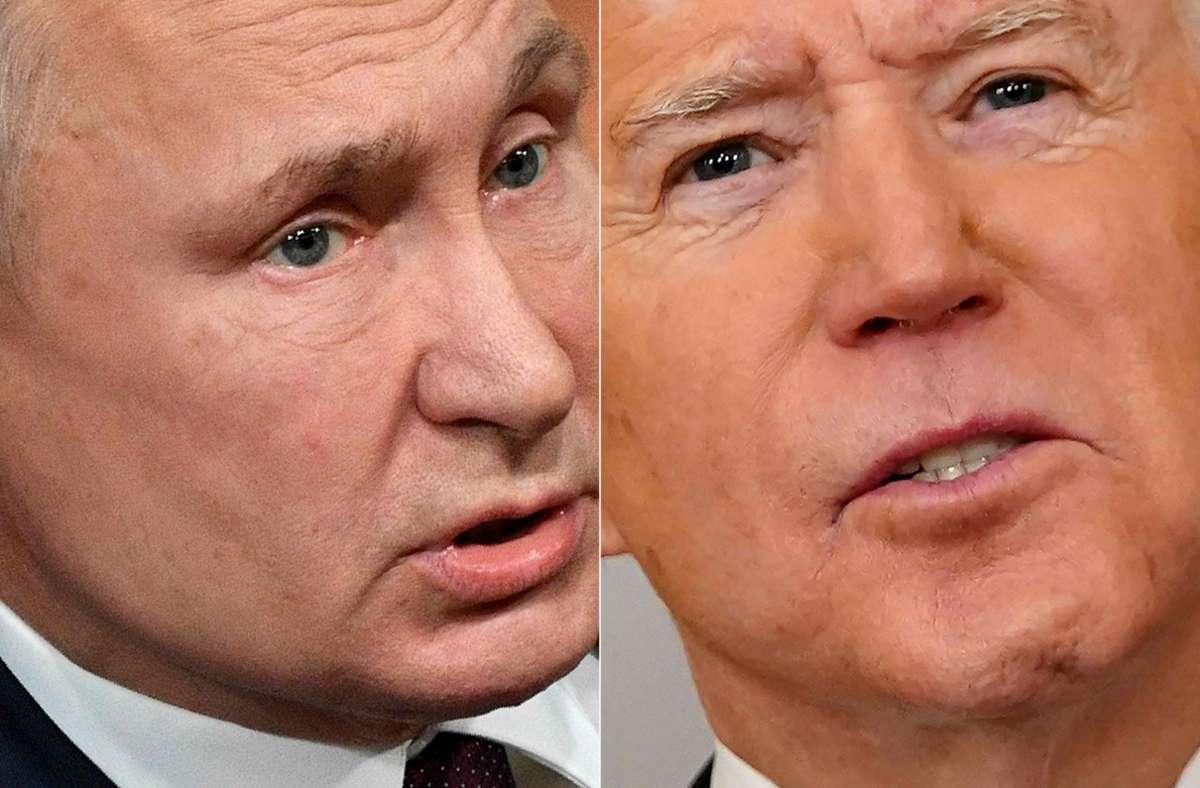 Putin (links) hatte lange offengelassen, ob er Bidens Einladung annimmt. Foto: AFP/ALEXANDER NEMENOV