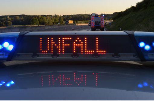 Unfall führte zur Vollsperrung der A81