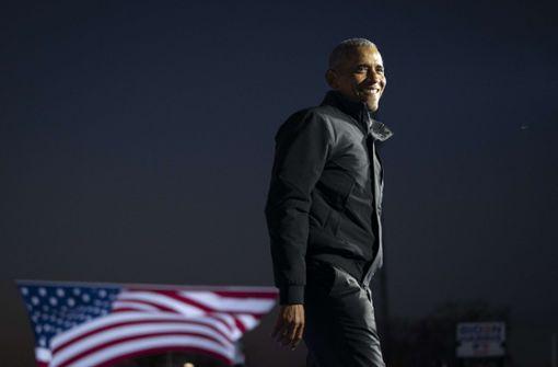 Obama sorgt mit sauberem Drei-Punkte-Wurf für erfolgreiche Wahlkampfaktion