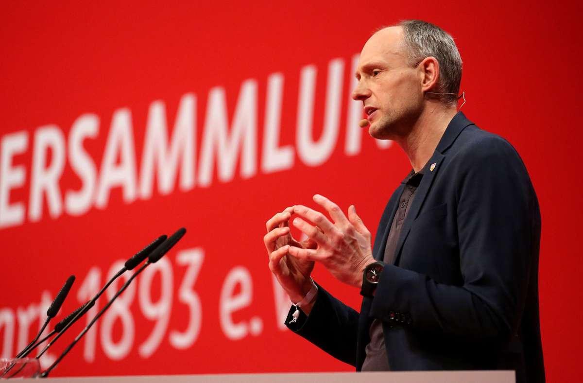 Christian Riethmüller ist zu Gast im VfB-Podcast unserer Redaktion. Foto: Pressefoto Baumann/Julia Rahn
