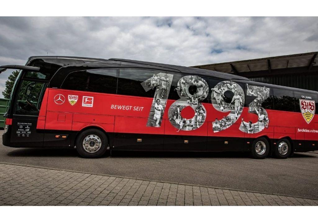 So sieht der neuen VfB-Bus vorerst aus Foto: VfB Stuttgart
