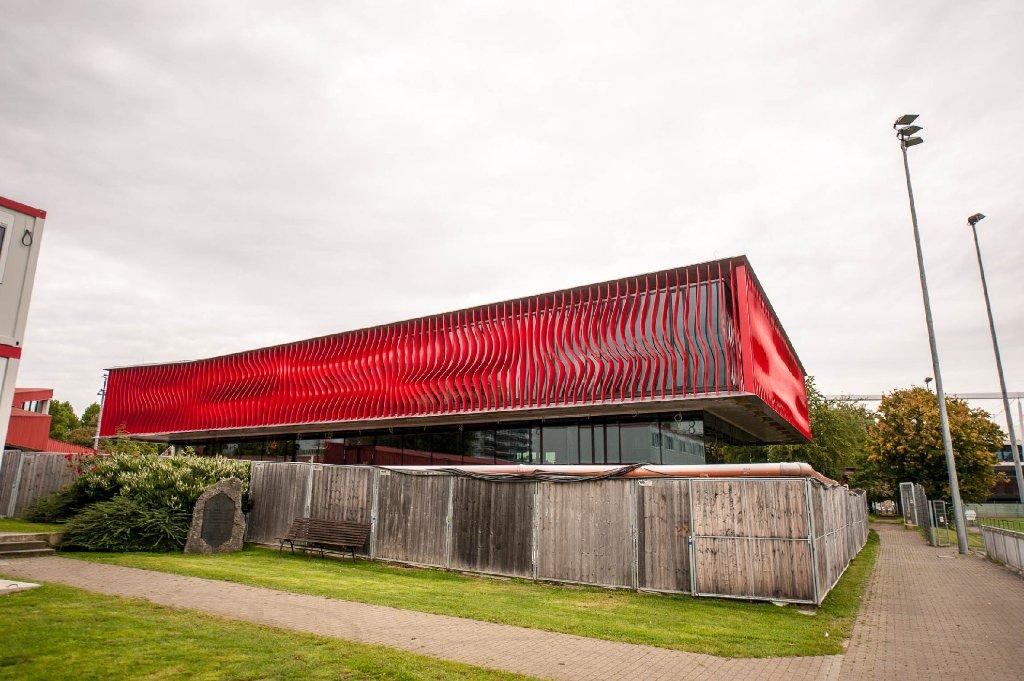 Im Oktober soll es eröffnet werden: Das neue Nachwuchsleistungszentrum des VfB Stuttgart. Wir haben die Bilder vom August. Foto: www.7aktuell.de | Florian Gerlach