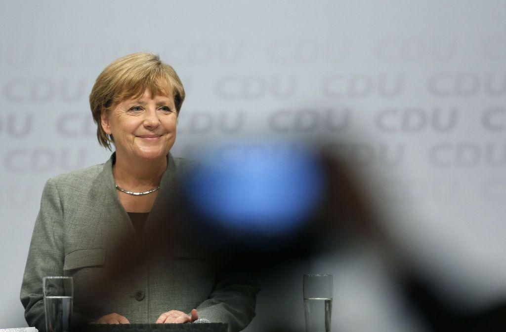 Sechs Wochen vor der Bundestagswahl kam die Bundeskanzlerin zum Wahlkampfauftakt nach Dortmund. Foto: dpa
