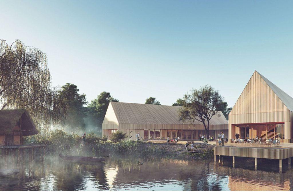 Ein erster Platz beim Architekturwettbewerb: Das Pfahlbaumuseum in Unteruhldingen wird nach den Plänen von a+r Architekten erweitert. Foto: xoio GmbH