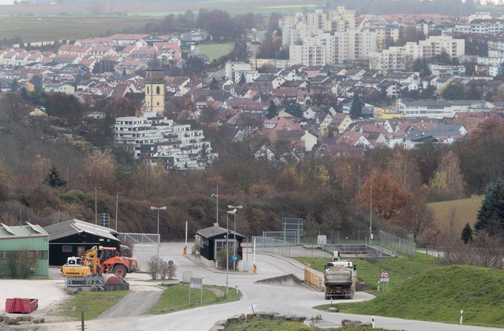 In der Deponie Froschgraben bei Schwieberdingen wird Schutt aus einer Wiederaufbereitungsanlage bei Karlsruhe gelagert. Foto: factum/Granville