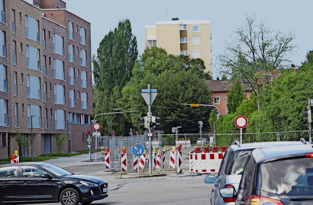 Bauarbeiten finden an der Eberhardstraße derzeit nicht statt. Foto: Patricia Sigerist