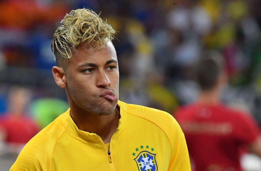 Die Frisur von Neymar bei der WM 2018 hat im Netz für viel Hohn und Spott gesorgt. Foto: AFP
