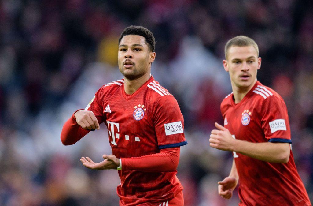 Zwei ehemalige VfB-Jugendspieler in Diensten des FC Bayern: Serge Gnabry (li.) und Joshua Kimmich Foto: dpa