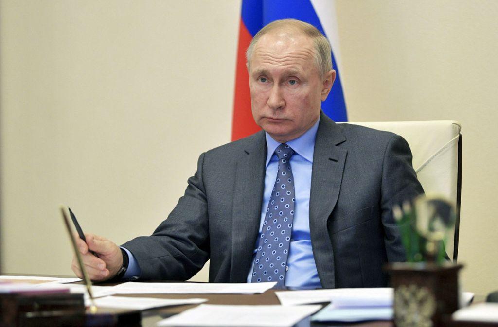 Russlands Präsident Wladimir Putin verhängt einen Urlaubsmonat im Kampf gegen das Coronavirus Foto: dpa/Alexei Druzhinin