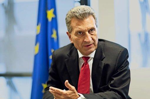Günther Oettinger will für die Internet-Cloud ein Gemeinschaftsprojekt à la Airbus. Foto: dpa