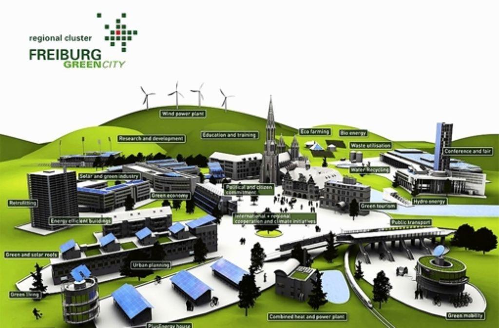 """Freiburg ist bereits als """"Bundeshauptstadt Klimaschutz"""" prämiert. Die Stadt hat Visionen auf dem Weg zur """"Green City"""". Foto: StZ"""