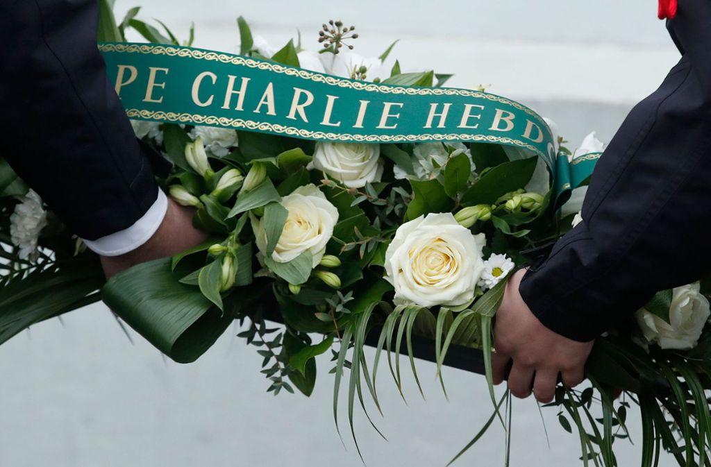 Frankreich gedenkt der Opfer des Anschlags auf Charlie Hebdo. Foto: AFP