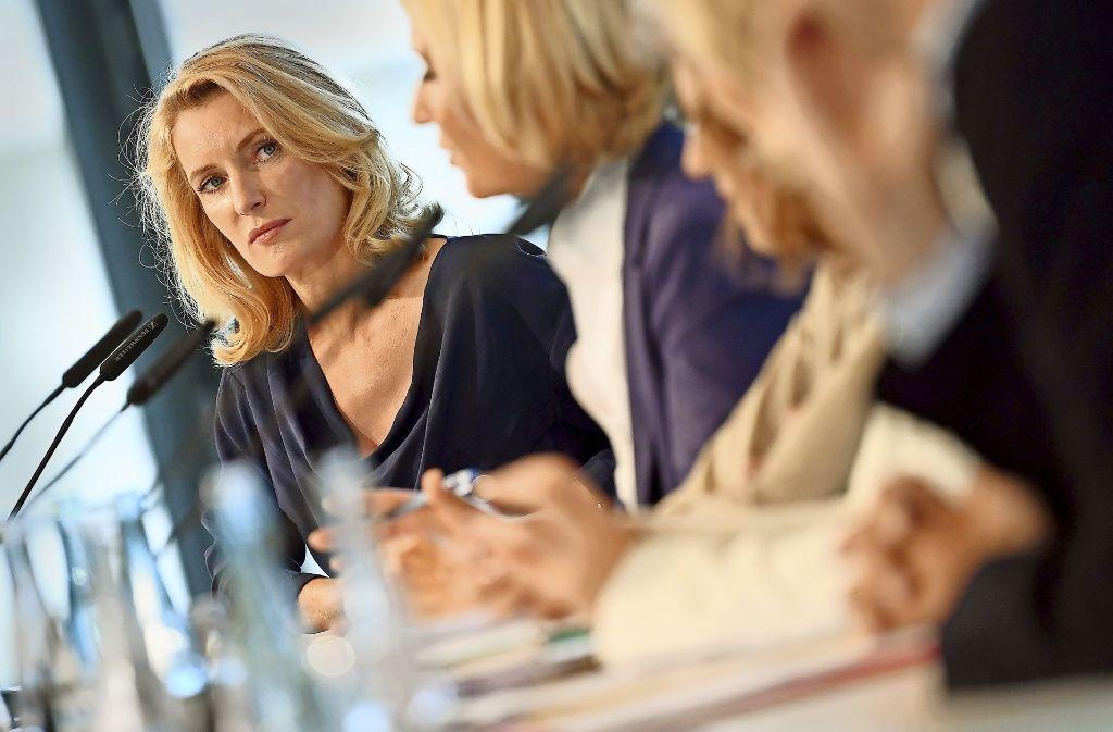 Die Schauspielerin Maria Furtwängler bei der Vorstellung der Studie in Berlin Foto: dpa