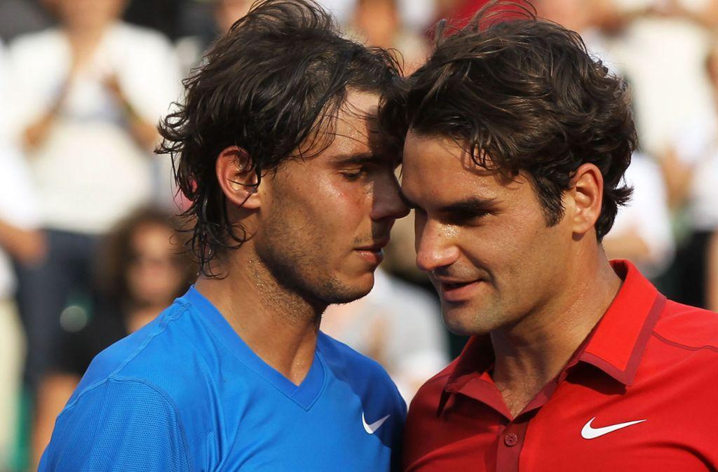 2011 musste Roger Federer (rechts) seinem spanischen Rivalen Rafael Nadal letztmals bei den French Open gratulieren. Damals verlor der Schweizer das Finale. Foto: Getty