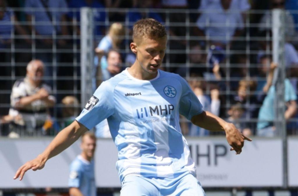 Marco Gaiser soll sich in der Regionalliga beim FC Homburg mehr Spielpraxis aneignen. (Archivfoto) Foto: Pressefoto Baumann