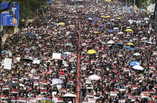 Riesige Menschenmenge marschiert gegen Regierung
