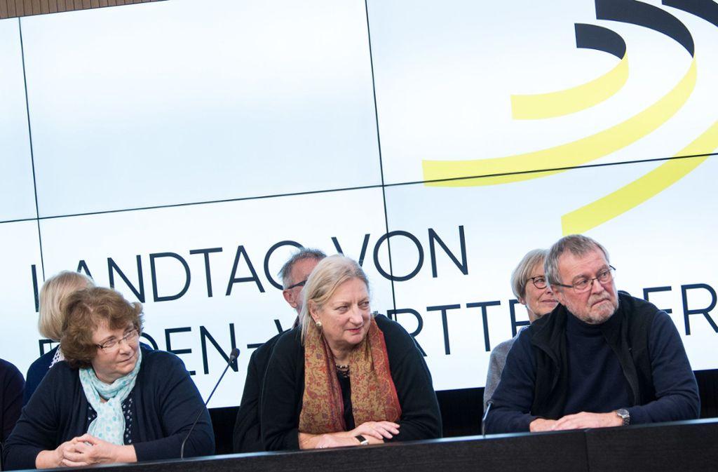 Die 25 zufällig ausgewählten Bürger haben sich seit November 2017 mit der Frage der Altersversorgung der Landtagsabgeordneten befasst. Foto: dpa