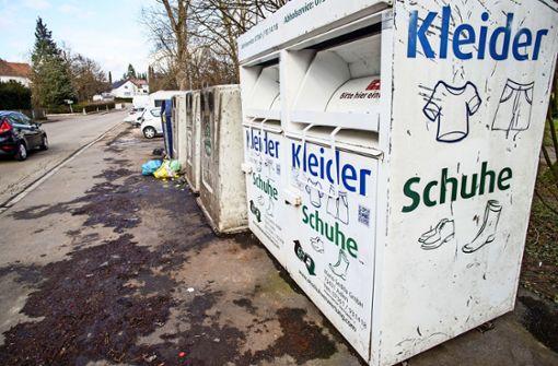 Stadt  plant Verbot von Altkleider-Containern