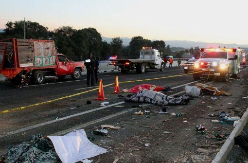 Elf Pilger auf dem Weg zur Jungfrau von Guadalupe tödlich verunglückt