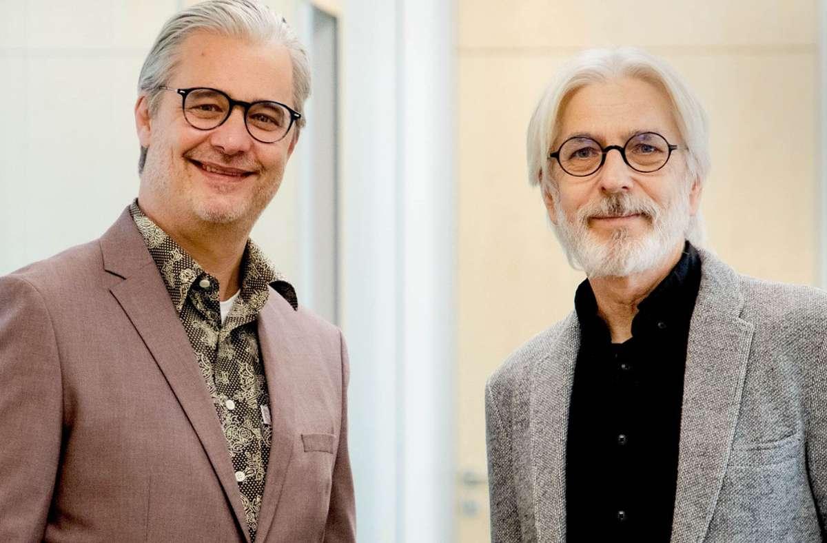Peter Wißmann (rechts) übergibt die Geschäftsführung von Demenz Support an Gregor Senne (links). Foto: Demenz Support