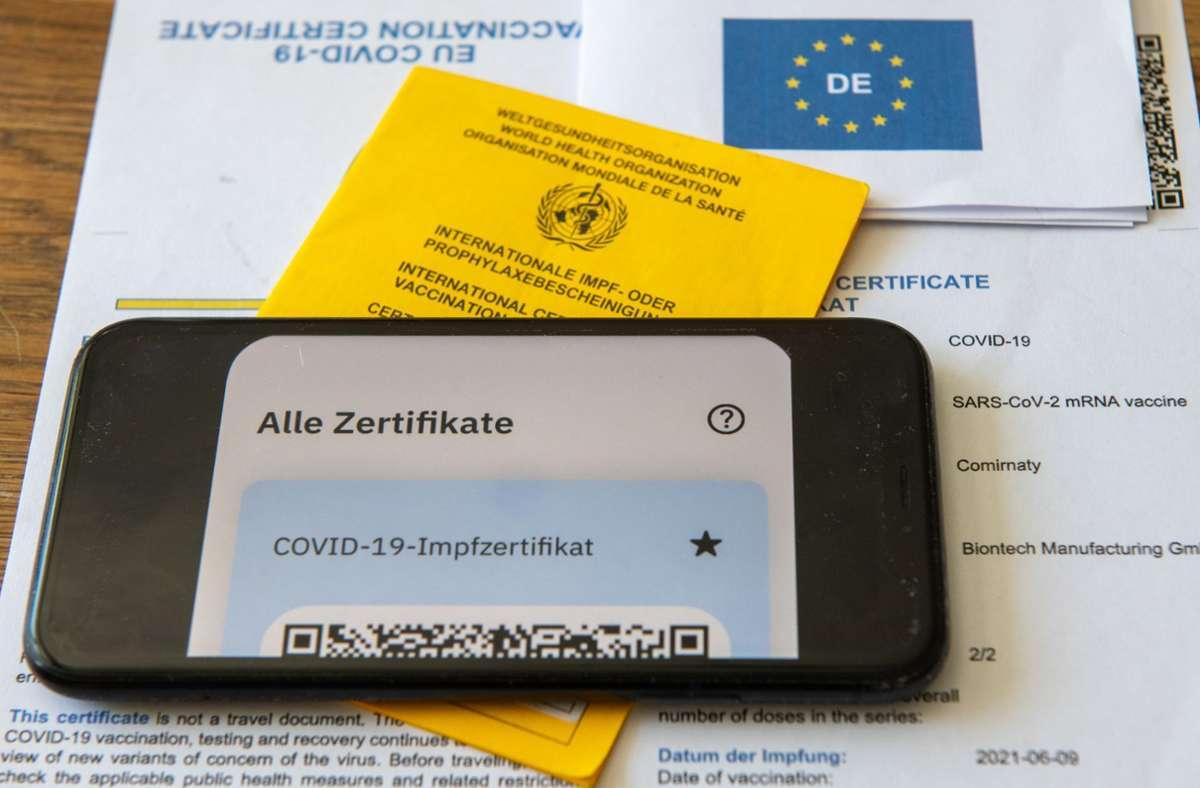 Der Mann wollte einen digitalen Impfnachweis erschleichen. Foto: dpa/Stefan Puchner