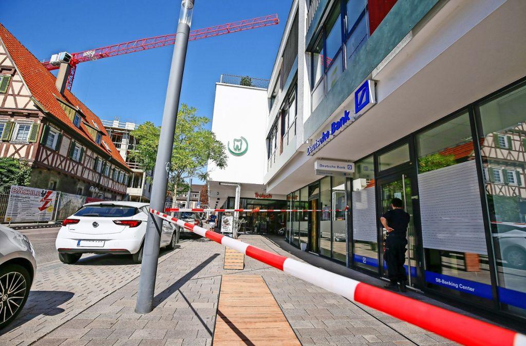 Die Bankfiliale ist bis auf Weiteres geschlossen. Foto: factum/Granville