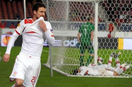 Der VfB Stuttgart hat zwar gegen Molde verloren, ist aber trotzdem in die Zwischenrunde der Europa League eingezogen. Foto: dpa