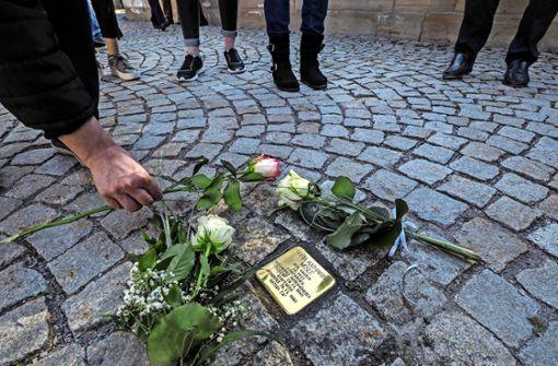 Erinnerungssteine für Opfer der Nazi-Gräuel