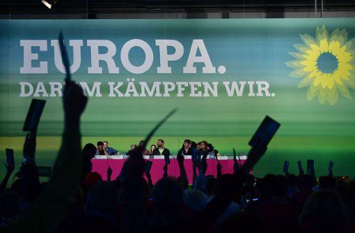Grüne empfehlen sich kämpferisch für Europa