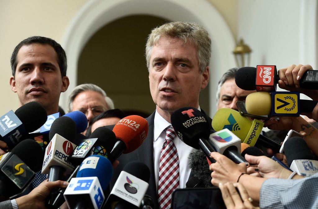 Der deutsche Botschafter Daniel Kriener ist in Venezuela eine unerwünschte Person. Foto: AFP