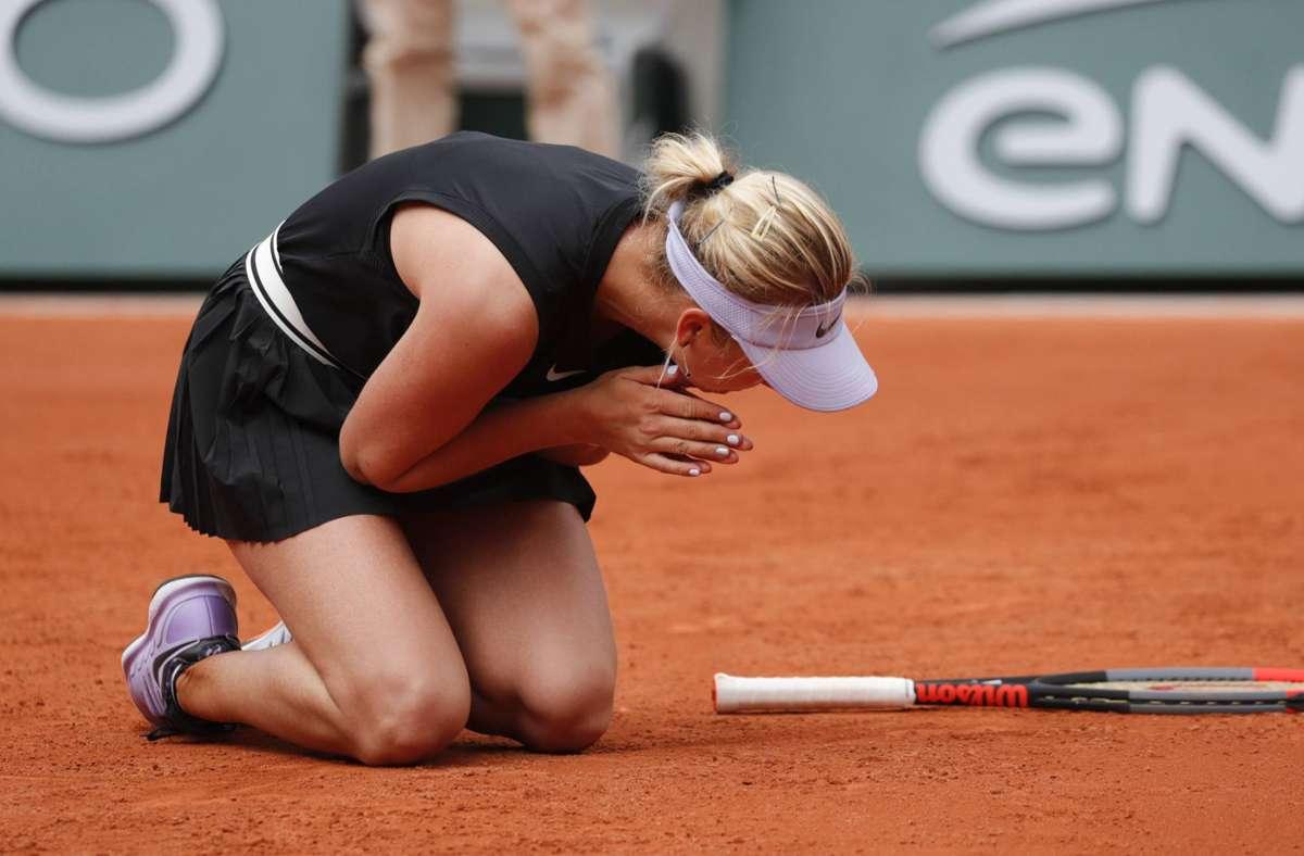 Ein Gefühl, das Angelique Kerber noch aus dem Jahr 2019 kennt – gegen Youngster zu verlieren. Gegen die damals 18 Jahre alte Anastasija Potapowa aus Russland unterlag sie 4:6, 2:6. Foto: www.imago-images.de