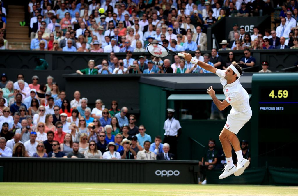 Roger Federer gewann das ewige Duell gegen Rafa Nadal. Foto: Adam Davy/PA Wire/dpa