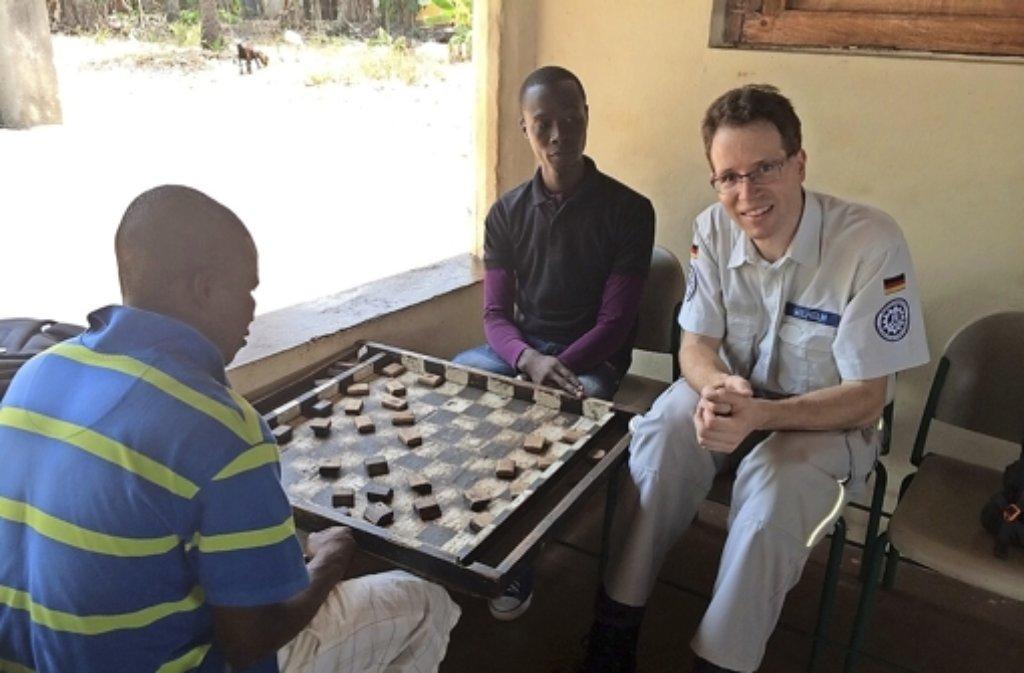 Vier Wochen lang war Marten Wilhelm in einem der ärmsten Länder der Welt im Einsatz.  Foto: privat Foto: