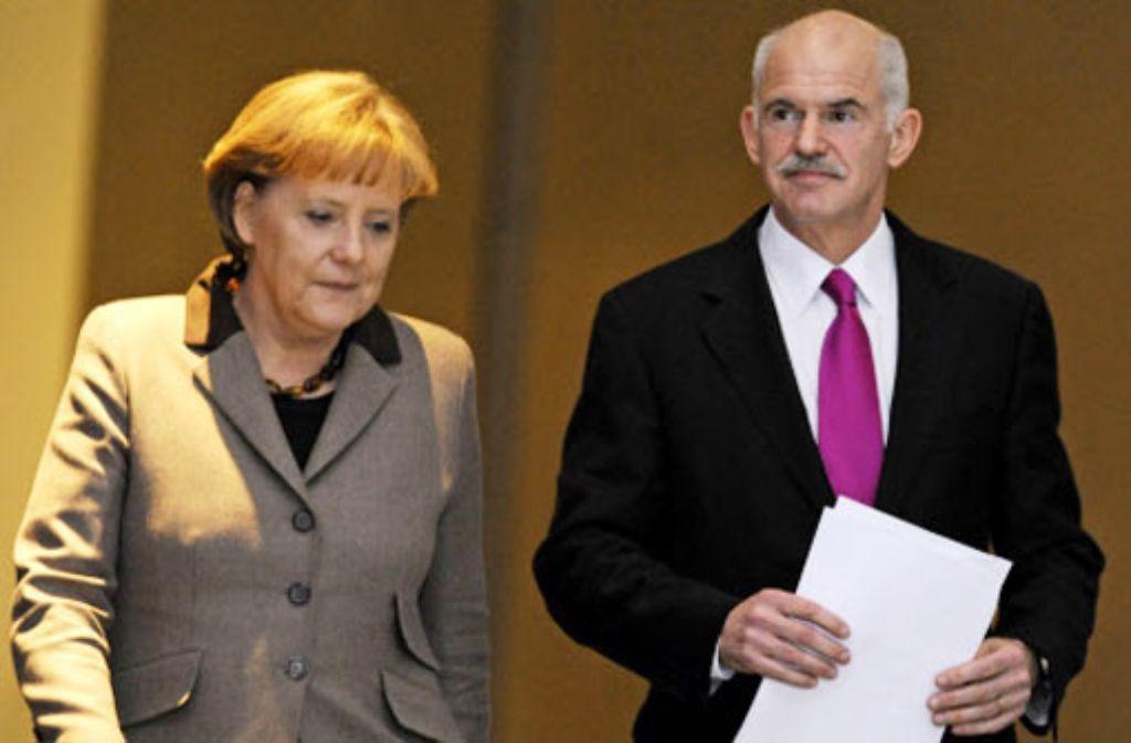 Der griechische Ministerpräsident Giorgos Papandreou trifft sich am Montag mit Bundeskanzlerin Angela Merkel in Berlin.  Foto: dapd