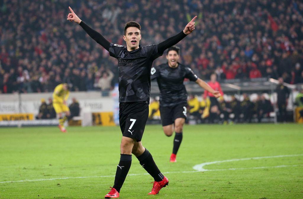 Josip Brekalo erzielte für den VfB Stuttgart unter anderem den 2:1-Siegtreffer gegen Borussia Dortmund. Foto: Pressefoto Baumann