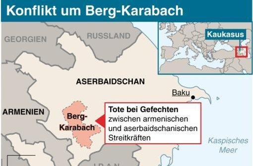 Neue Kämpfe um Berg-Karabach