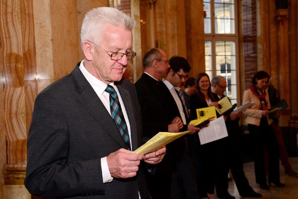 Ministerpräsident Winfried Kretschmann hat mit den Bischöfen der Landeskirchen über den Bildungsplan 2015 gesprochen. (Archivfoto) Foto: www.7aktuell.de |