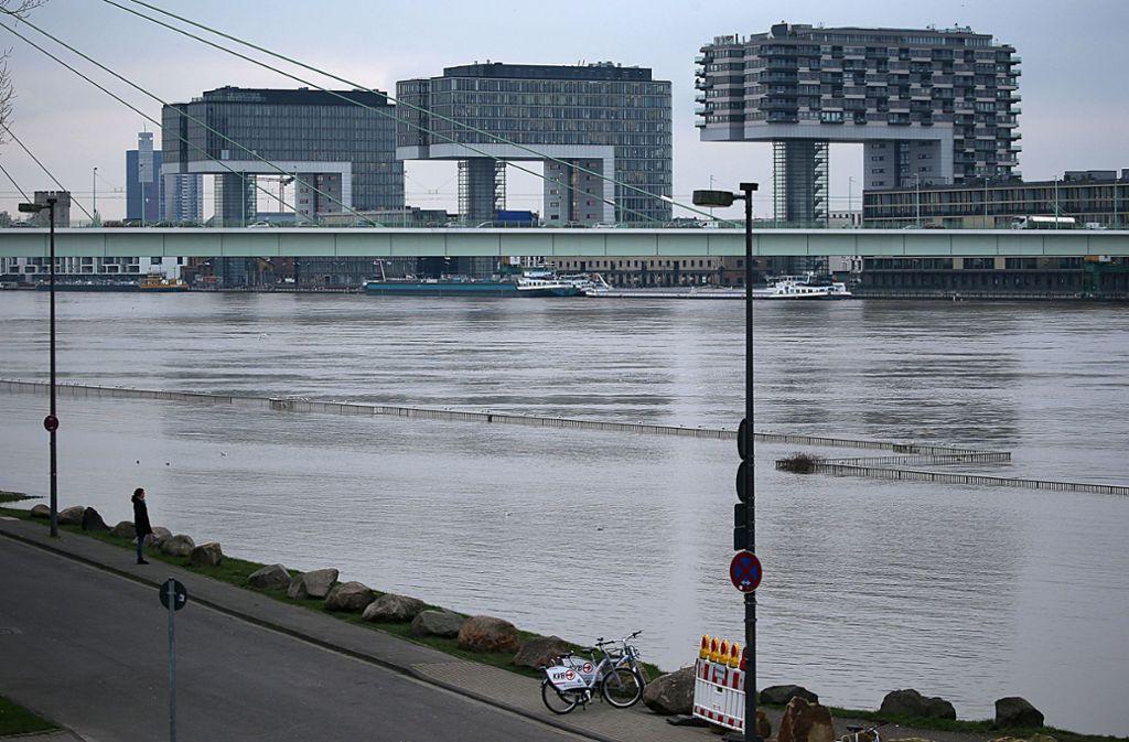 """Der """"Gamescom""""-Besucher war laut Zeugen am frühen Freitagmorgen in den Rhein gestiegen. (Symbolfoto) Foto: dpa"""