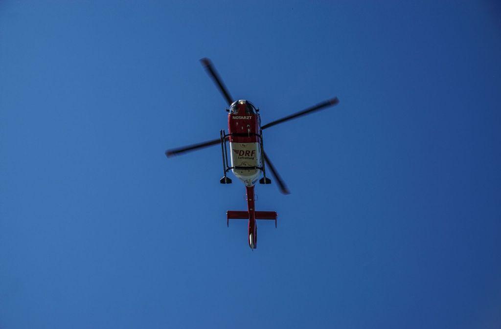 Bei der Rettungsaktion war auch ein Hubschrauber beteiligt. (Symbolbild) Foto: SDMG/Dettenmeyer