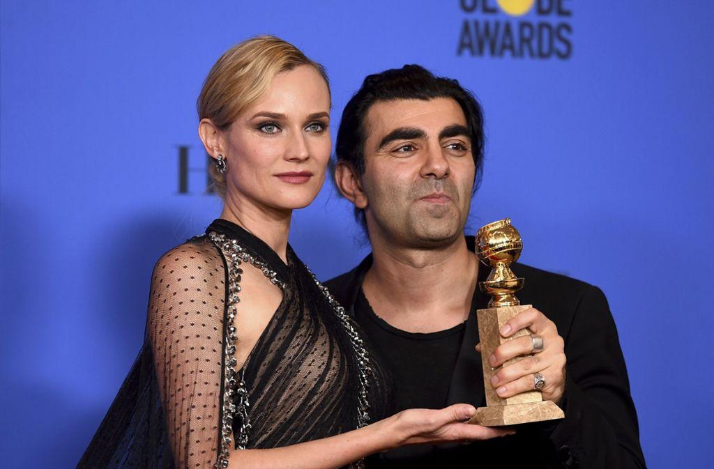 Freuen sich über ihren Golden Globe: Schauspielerin Diane Kruger und Regisseur Fatih Akin. Foto: Invision