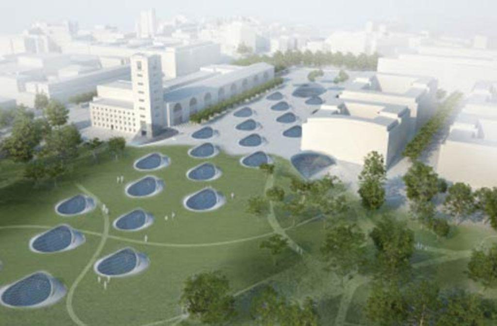 Kapazität, Leistungsfähigkeit und Kosten des Tiefbahnhofs stehen auf dem Prüfstand. Grafik: Ingenhoven Architects