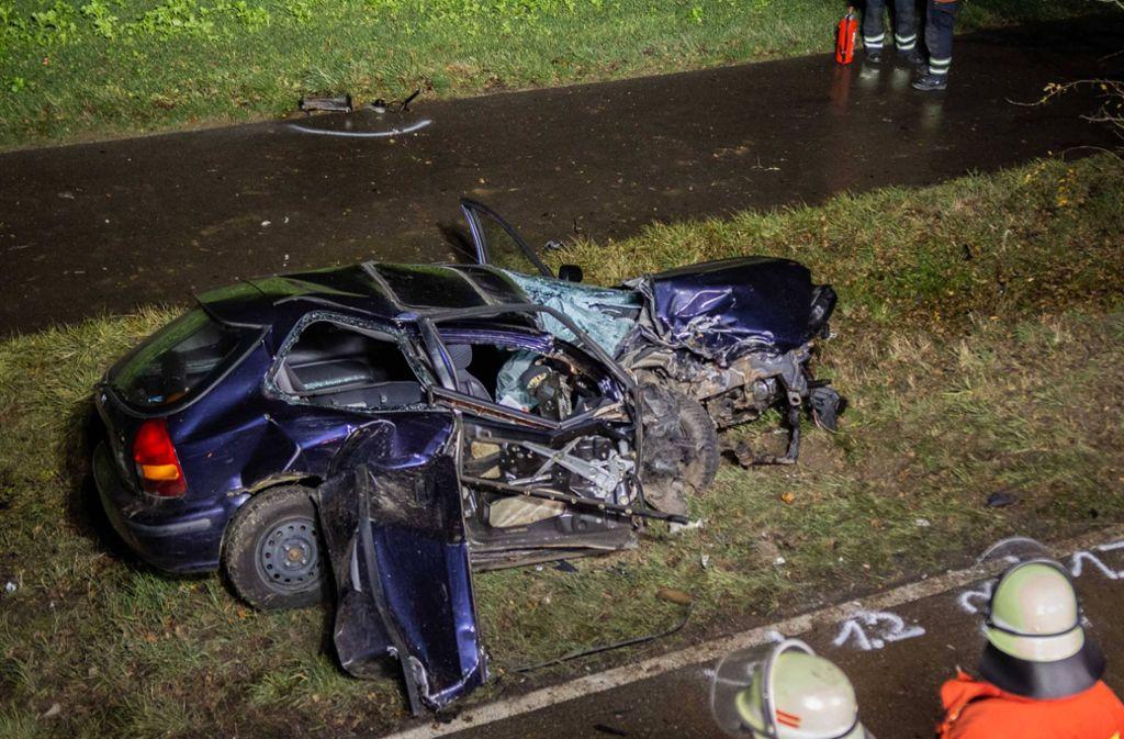 In Markgröningen hat es einen heftigen Unfall gegeben. Foto: 7aktuell.de/Jochen Buddrick