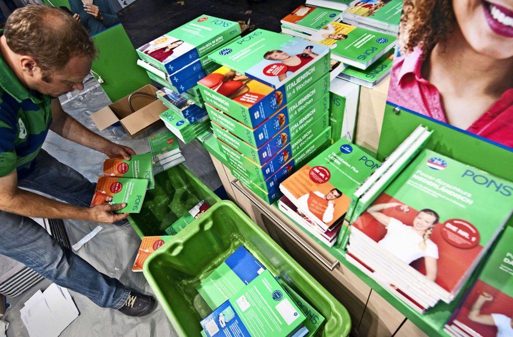 Zur Klett-Gruppe gehört auch der Pons-Verlag. Nachdem die Stuttgarter in diesem Jahr auch die Titel von Langenscheidt erworben haben, wird das Wörterbuch- und Sprachprogramm derzeit neu ausgerichtet. Foto: AFP