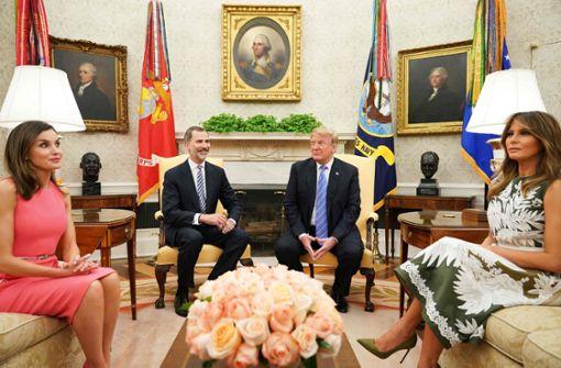 Donald Trump empfängt spanisches Königspaar
