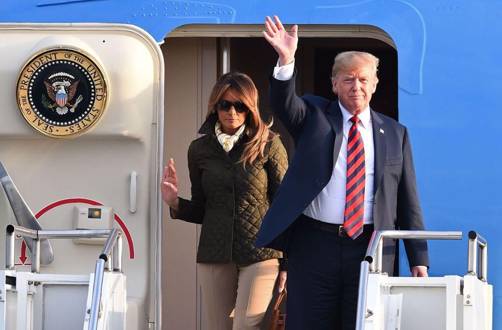 Donald Trump (im Bild mit seiner Gattin Melania) hat sich aus den Verhandlungen zurückgezogen. Foto: AFP