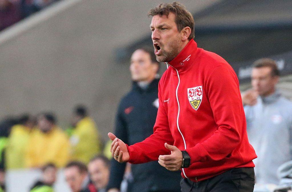Markus Weinzierl, der Trainer des VfB Stuttgart Foto: Baumann